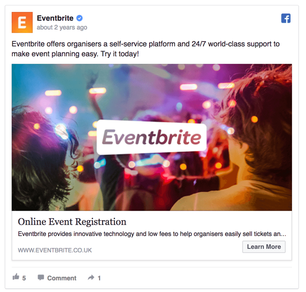 Eventbrite Facebook Ad Design