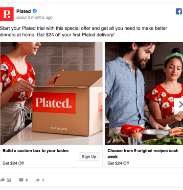 Plated Facebook Ad Design