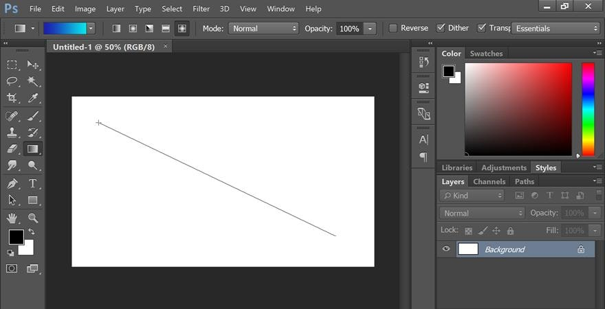 how to use Photoshop gradient tool