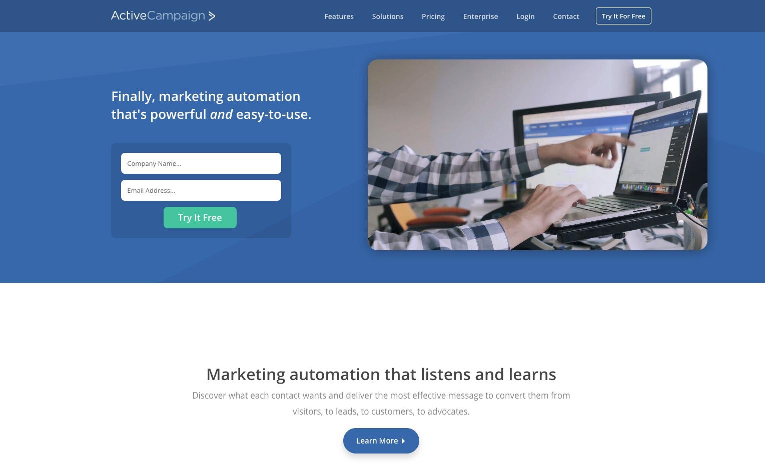 Top email marketing platform: ActiveCampaign