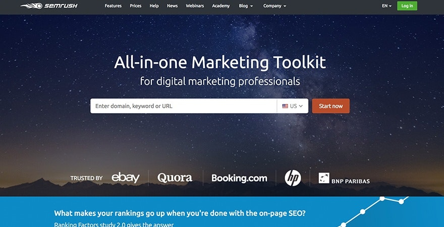 SEMRush - Marketing SEO Tools