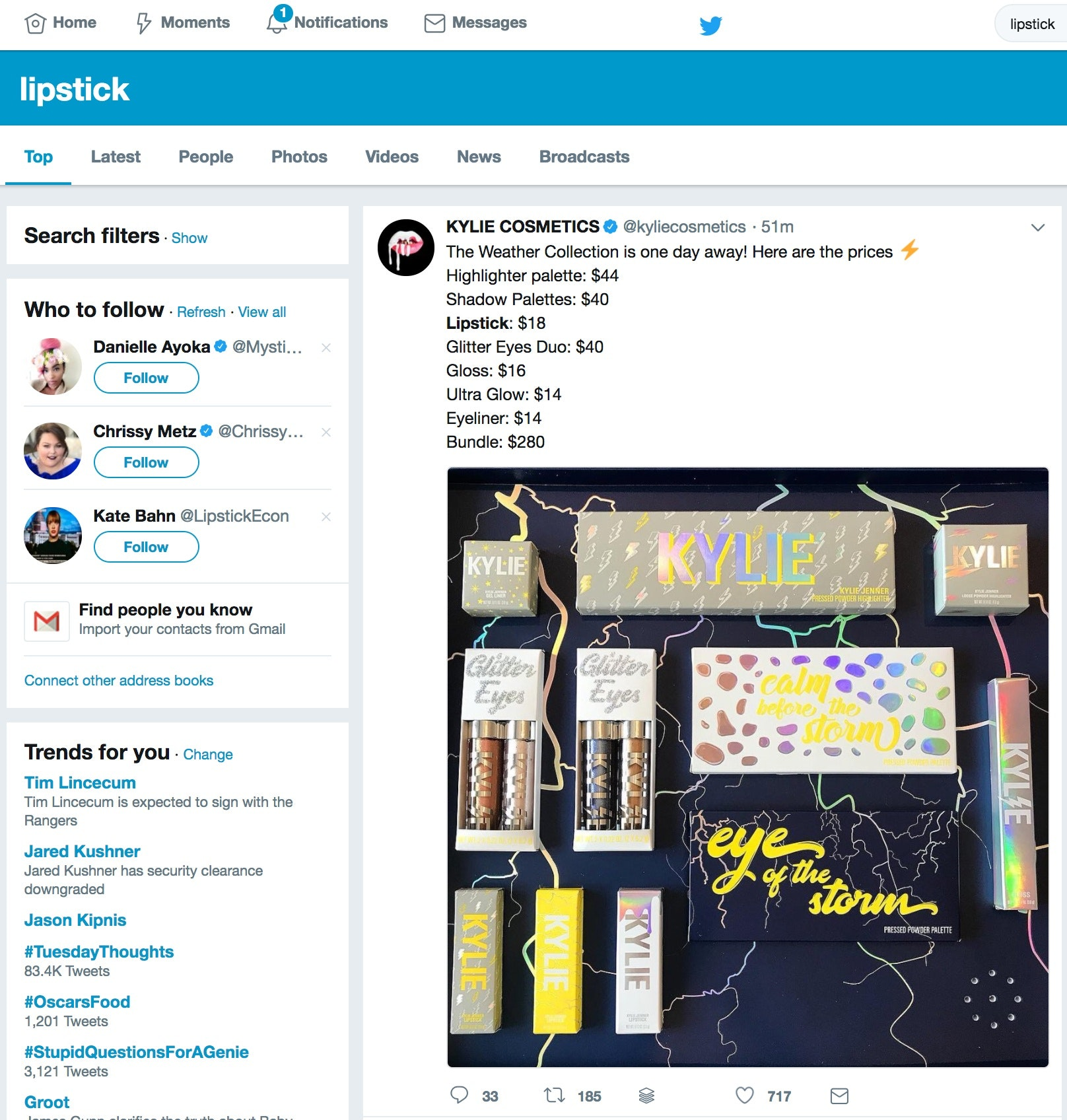 Twitter Viral Marketing examples