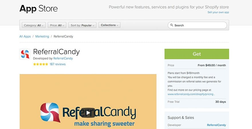 Referral Candy: Shopify Referral App