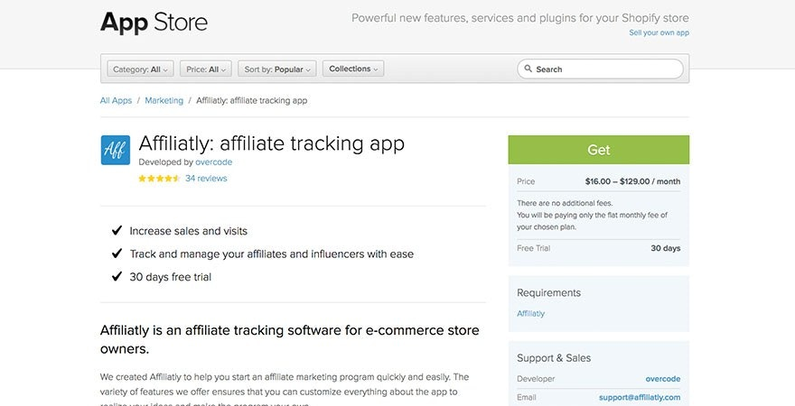 Affiliatly: Shopify Affiliate Tracking App