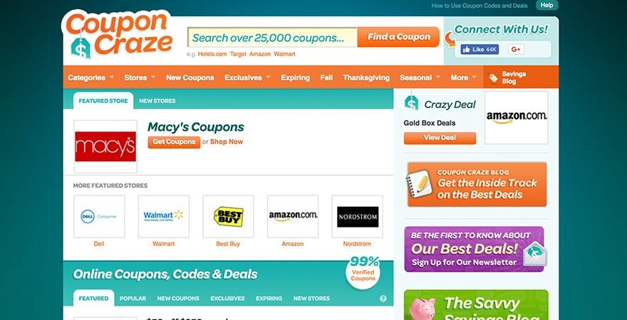 Coupon Craze is great for affiliate coupon sales