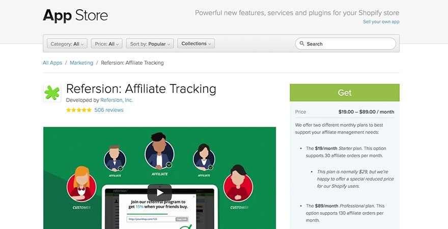 Refersion: Affiliate Tracking App