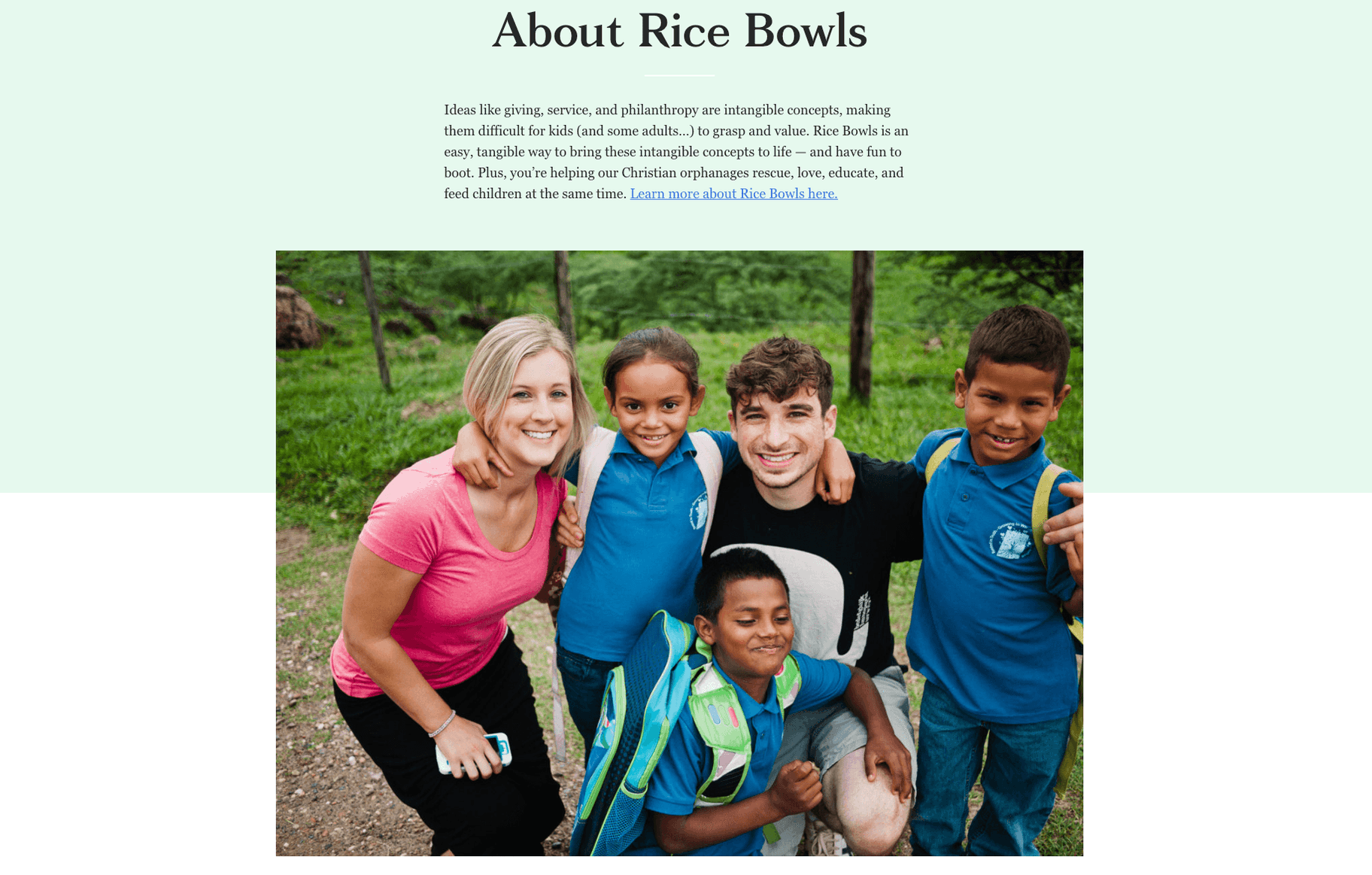 Ugmonk and Rice Bowls charity work