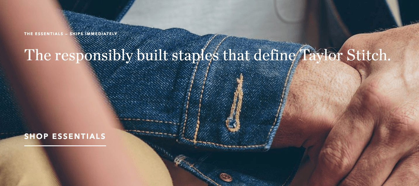 Taylor Stitch and responsible product