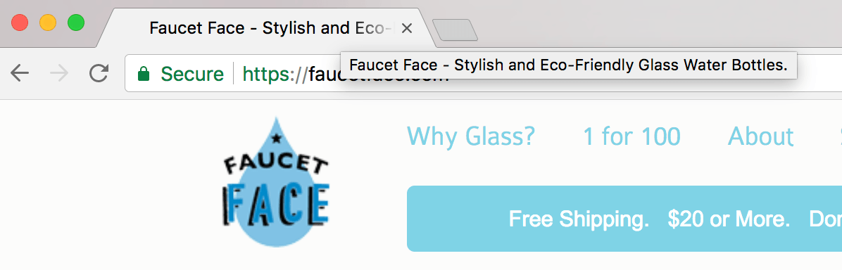 Title tag for Faucet Face