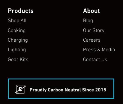 Carbon neutral announcement