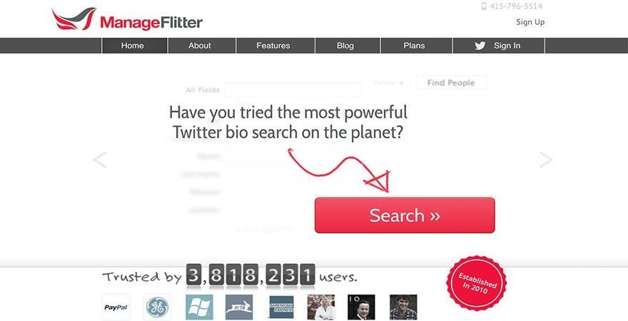 Twitter - Manage Flitter