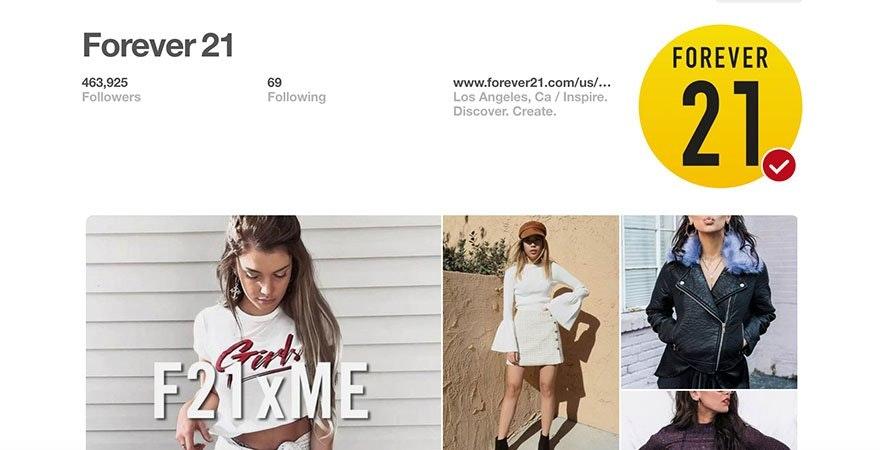 Pinterest - Forever 21
