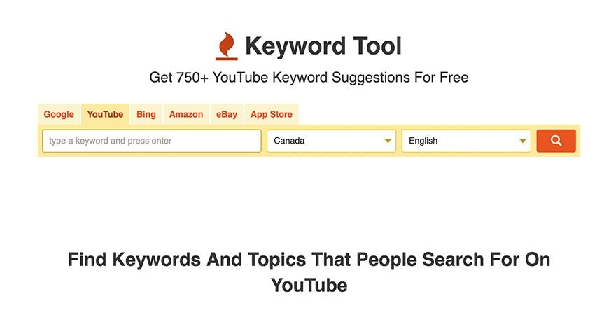 YouTube - Keyword Tool