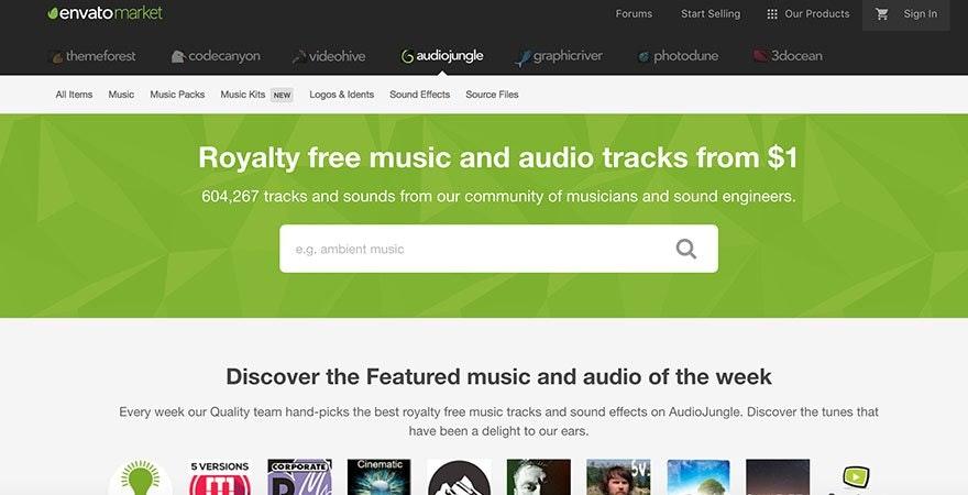 YouTube Audio Jungle