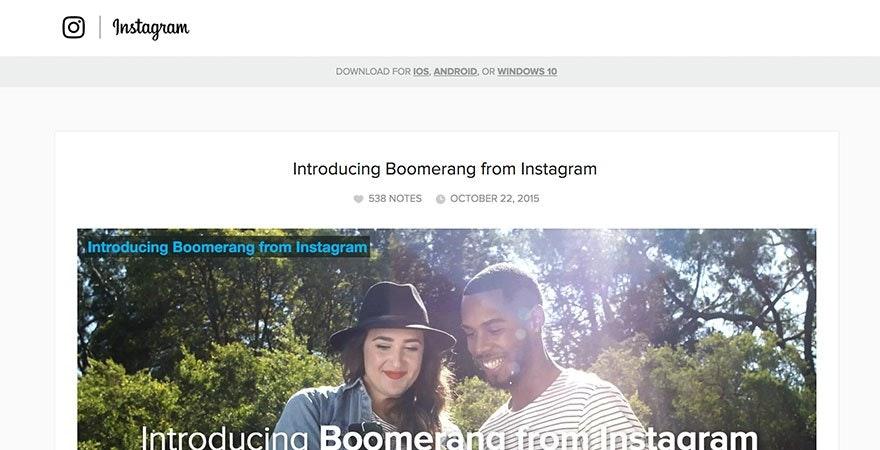 Instagram - Boomerang