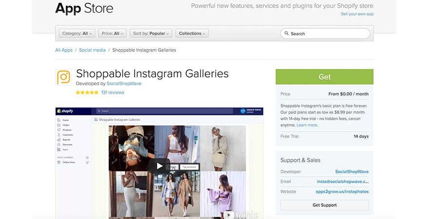 Instagram - Shoppable Instagram Galleries
