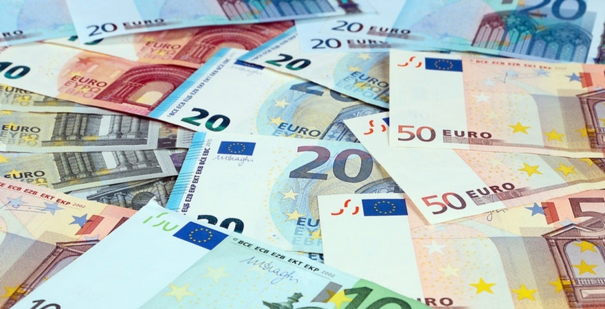 Euro notes after ecommerce transactions