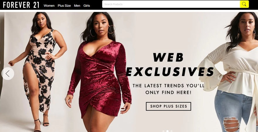 Forever21 Domain Name example