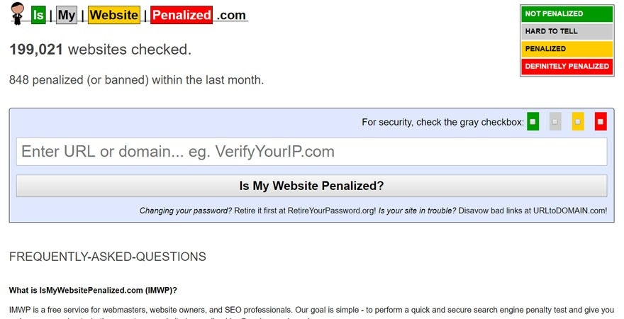 Is my website penalized