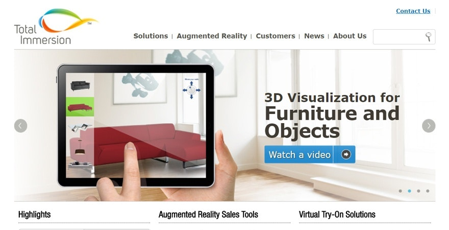 Augmented reality ecommerce.