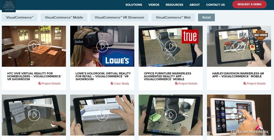 Augmented reality ecommerce