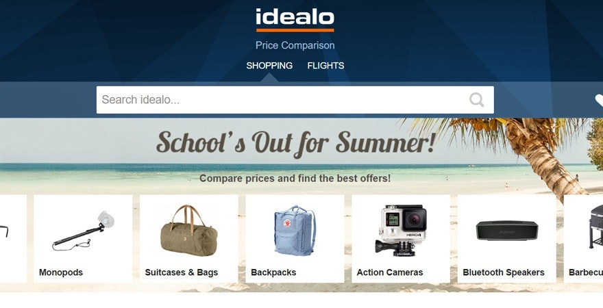Idealo - price comparison site