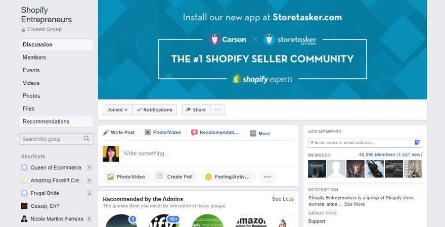 ecommerce tip - Join a Facebook Group