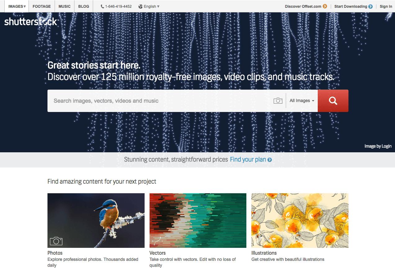 Premium Stock Image Websites - Shutterstock