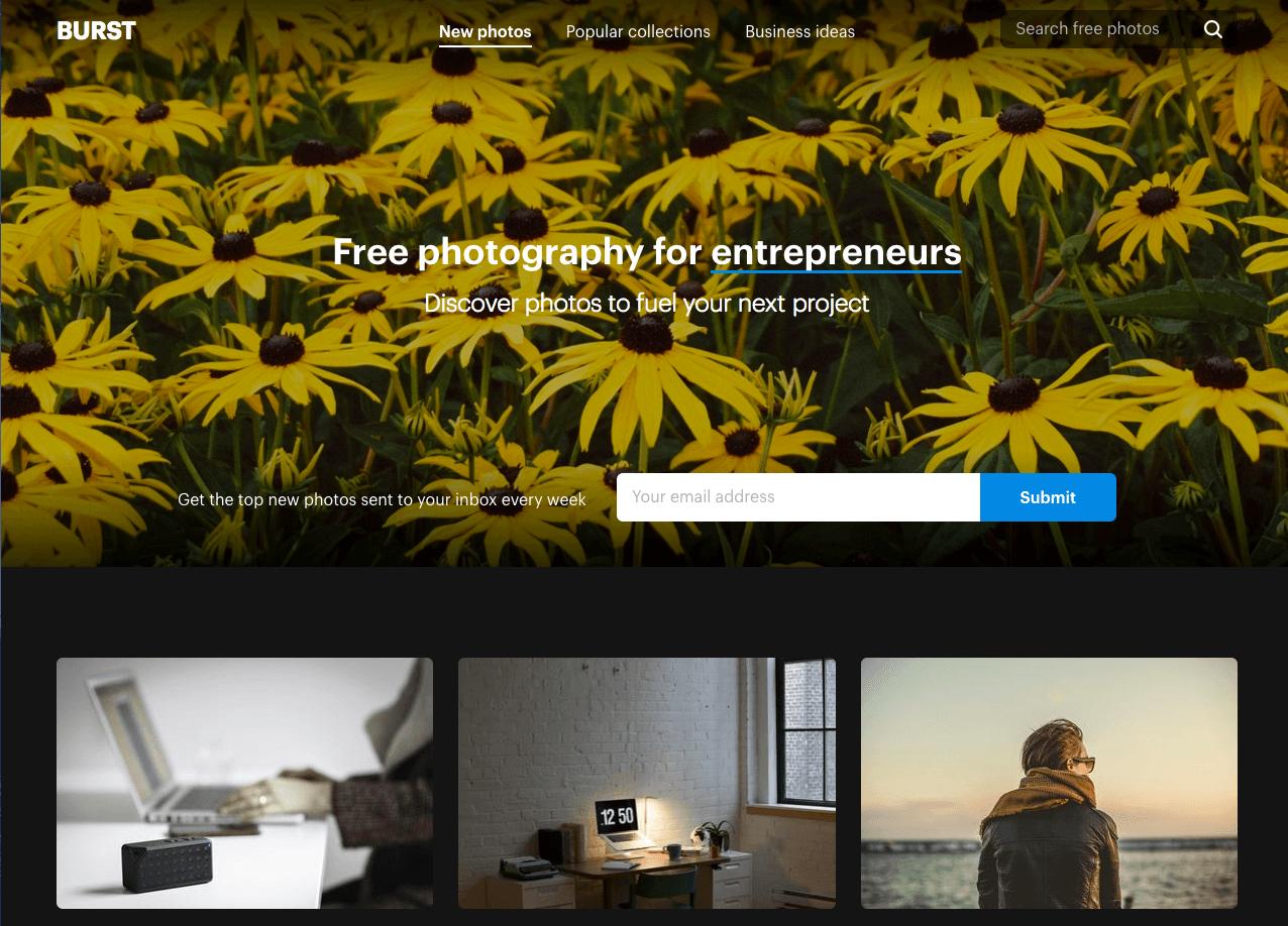 Free Stock Image Sites - Shopify Burst