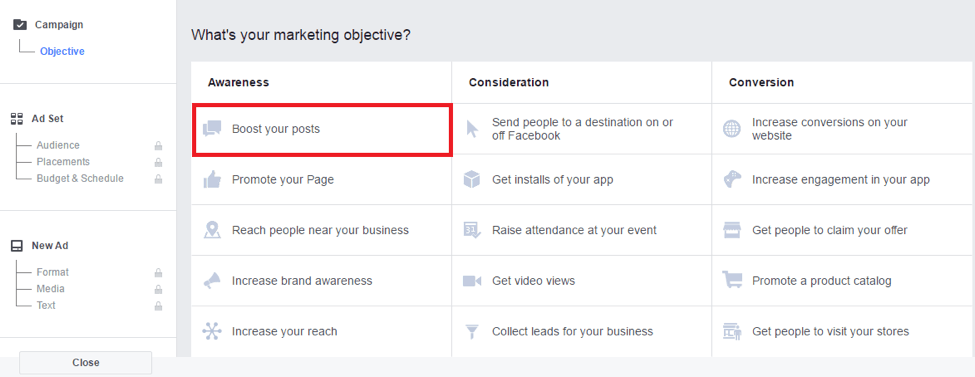 Boost your posts