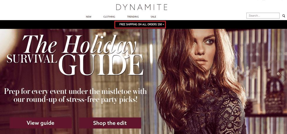 Free Shipping at Dynamite