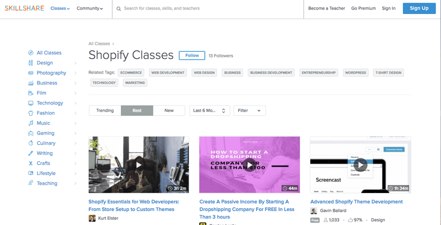 shopify-classes