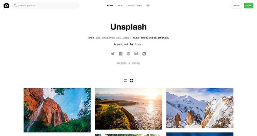 Unsplash – Free (do whatever you want) high-resolution photos.