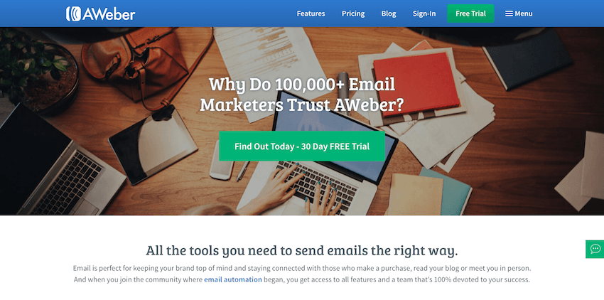 Email Marketing Platforms: Aweber