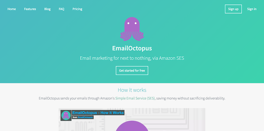 Email Marketing Platforms: EmailOctopus