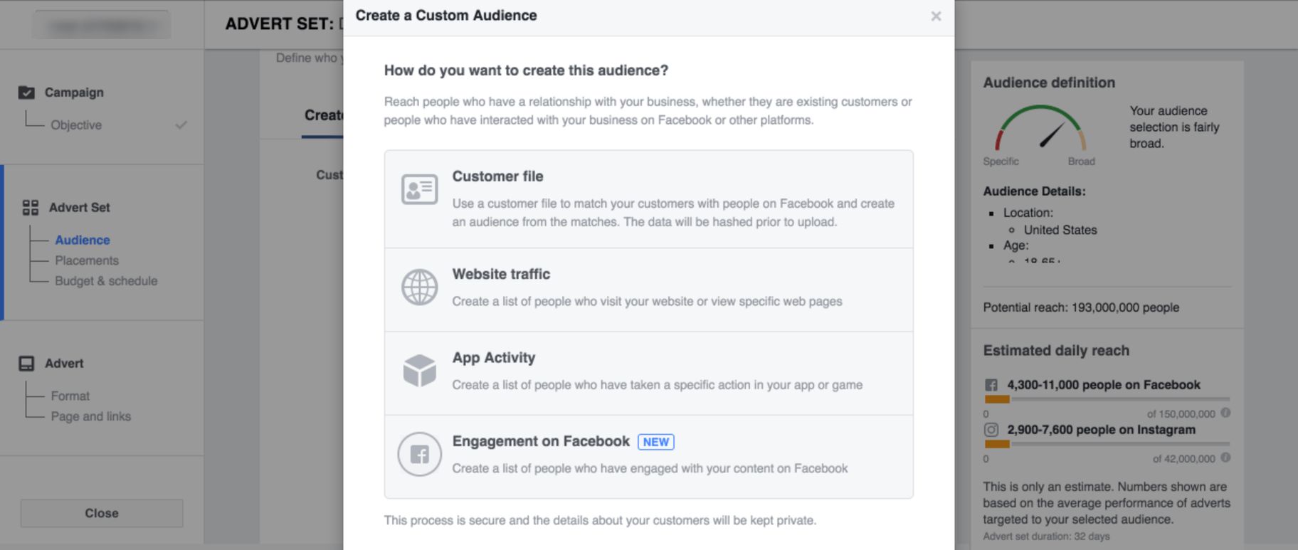 How to advertise on Instagram: custom audience
