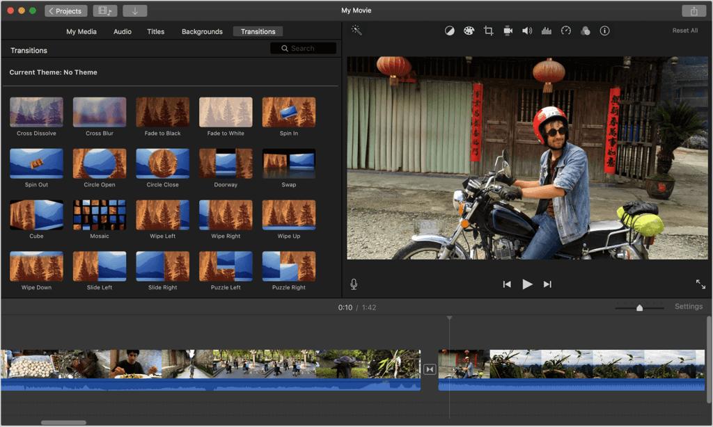 iMovie logiciels de montage vidéo gratuit