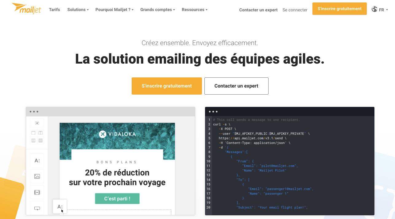 logiciel emailing performant mailjet
