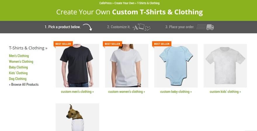 T-shirt template personnalisé