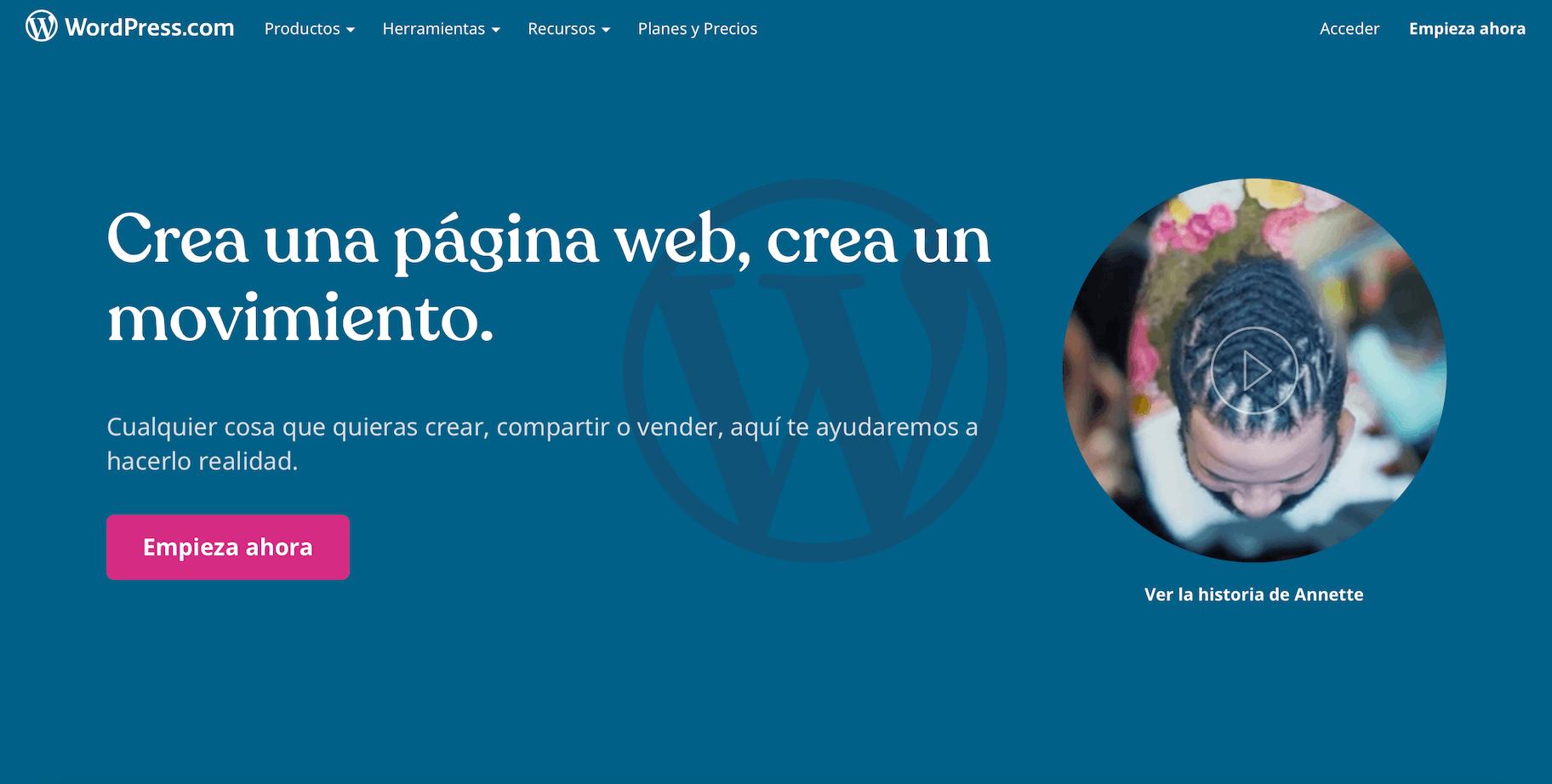 como hacer una pagina web con wordpress