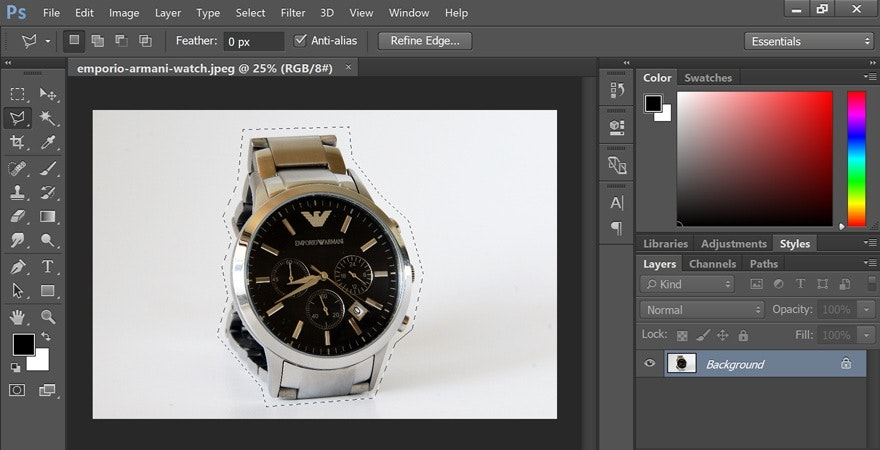 how to use lasso tool in photoshop