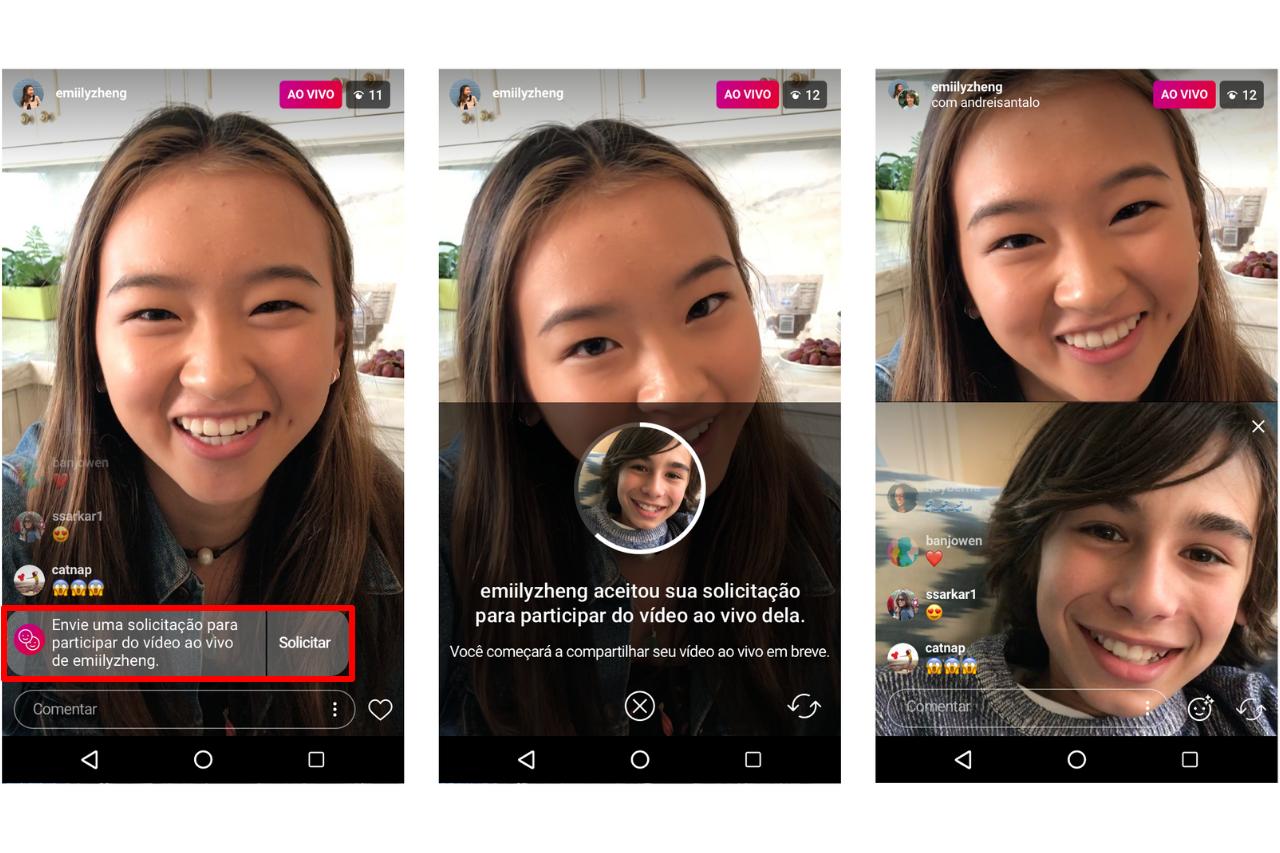 Live Instagram: como solicitar para participar de uma live