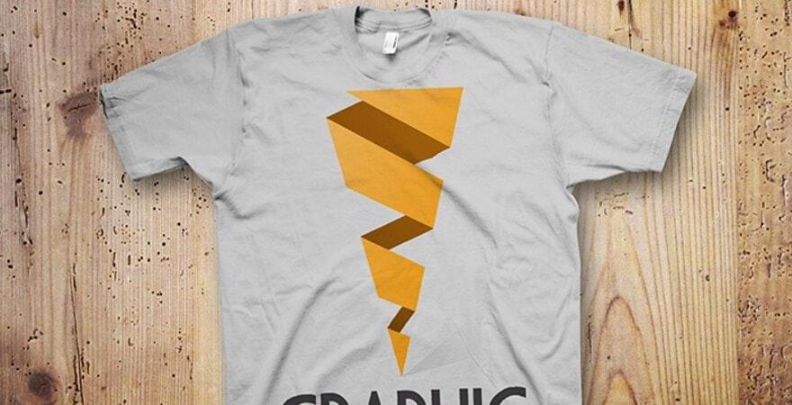 Kostenlose PSD T-Shirt-Vorlage - Graphic Twister