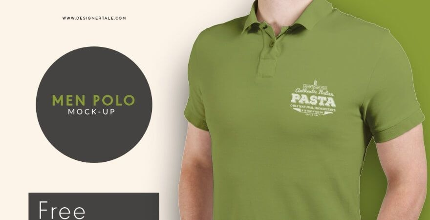 Free Polo T-Shirt Mockup- Designer Tale
