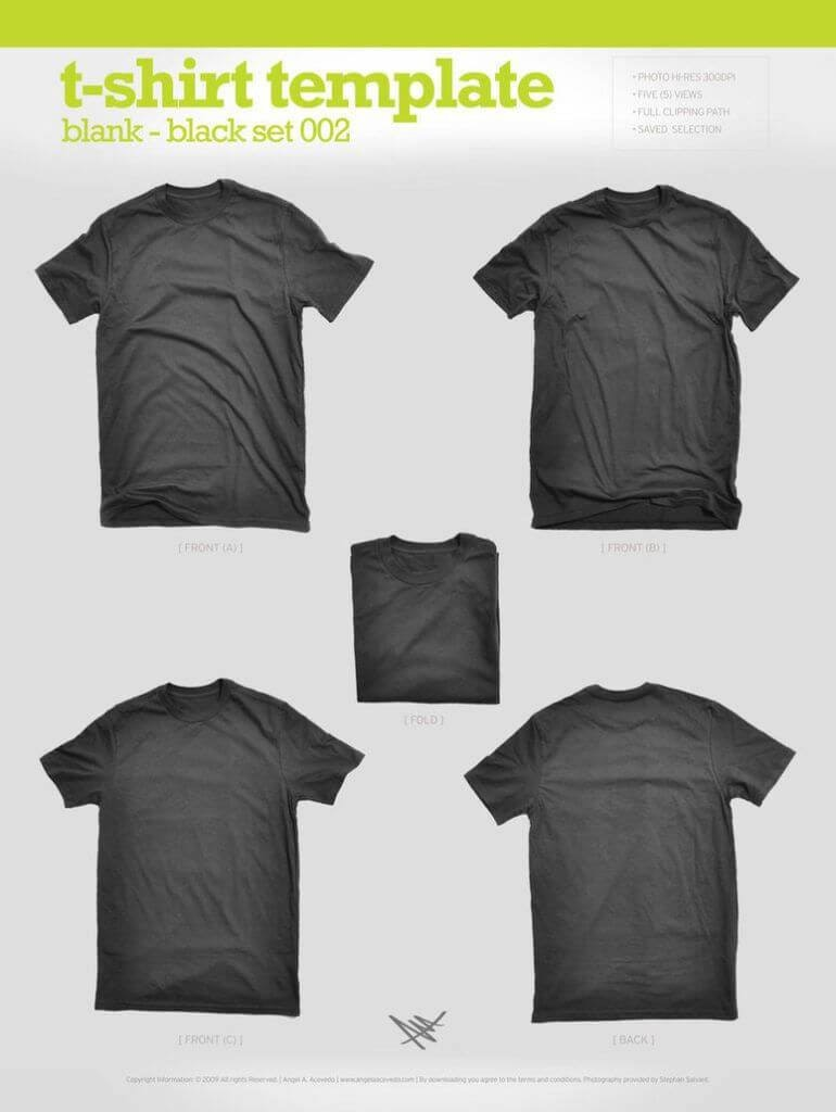 T-Shirt - Angela Acevedo's Black t-shirt template