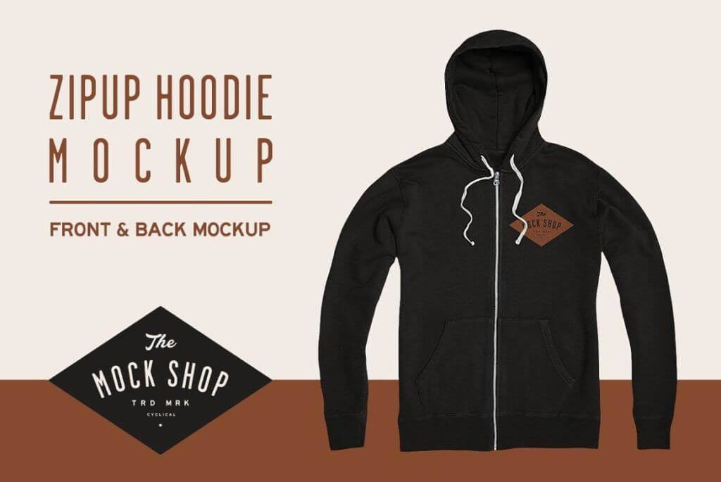 Zipup Hoodie Mockup- The Mock Shop