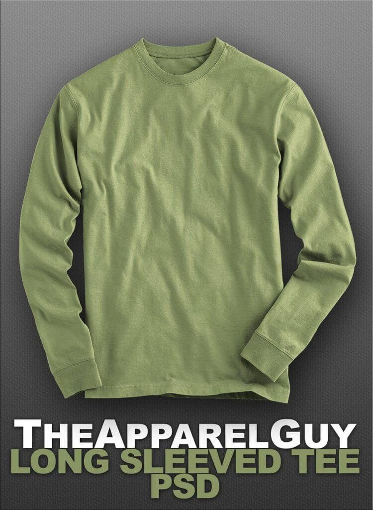 T-Shirt Design: Long Sleeved Tee PSD- The Apparel Guy