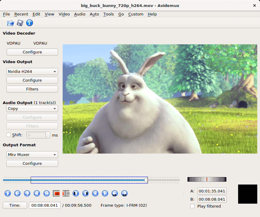 Avidemux Video Editing Tool