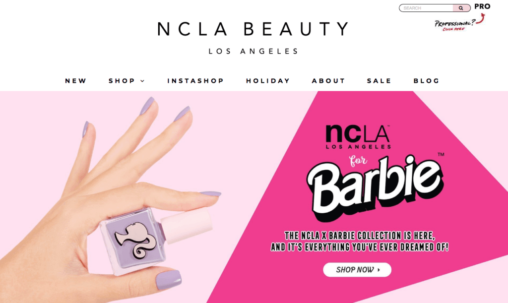 NCLA Beauty Shopify Store