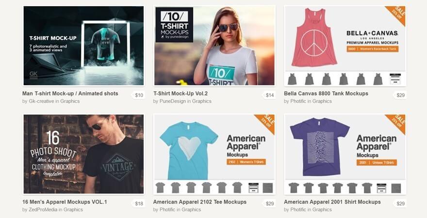 T-Shirt Mockup PSD- Creative Market